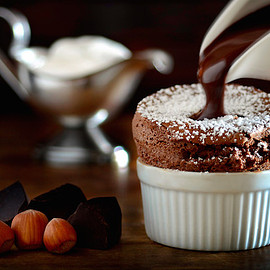 Chocolate Soufflé with Grand Marnier