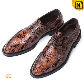 cwmalls - Printed Leather Oxford Shoes CW751158 - cwmalls.com