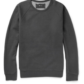 ALEXANDER WANG - Alexander Wang Fleece-Backed Cotton-Blend Jersey Sweatshirt