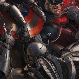 """Captain America in Marvel's """"Avengers: Age of Ultron,"""" Concept art posters"""