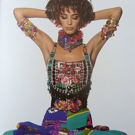Atelier Versace - Iconic Beaded Bodice Breastplate Spring 1991