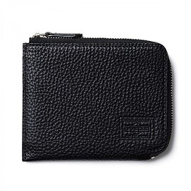 "HEAD PORTER - ""SIENA"" ZIP WALLET BLACK"