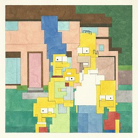 Adam Lister - The Simpsons limited edition archival print edition of 200