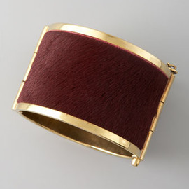 McQ - Pony Hair Cuff, Red