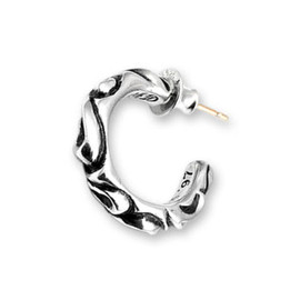 CHROME HEARTS - Scroll Hoop Earrings
