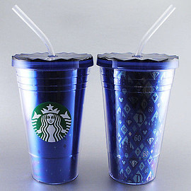 Starbucks - Disneyland 60th Anniversary Diamond Double Tumbler