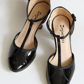 Repetto Sophia City Ballet Flats with Ribbons