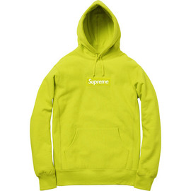 Supreme - Box Logo Pullover Acid Green