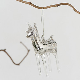 Mercury Glass Deer Ornament