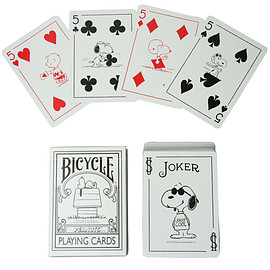 MEDICOM TOY - PEANUTS BICYCLE PLAYING CARDS