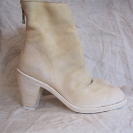GUIDI - ANKLE BOOT ivory