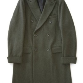 bal - Double Brested Dobby Wool Overcoat (olive)