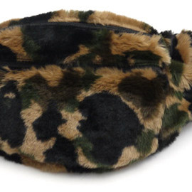 A BATHING APE - 1ST CAMO FUR OUTDOOR WAIST BAG