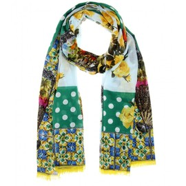 DOLCE&GABBANA - Resort2015 Printed cotton scarf