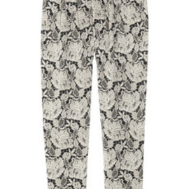 Stella McCartney  - Lace-print silk-satin tapered pants