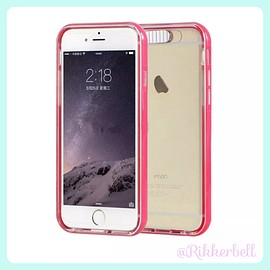 plamode - LED Flash bumper iPhone case Pink
