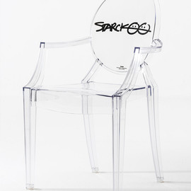 Kartell - 10th anniversary edition Louis Ghost Chair with Starck's signature