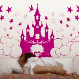 Les invasions éphémères - Wall decals For girls -  Princess castle