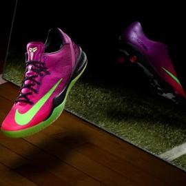 Nike - NIKE KOBE 8 SYSTEM MC MAMBACURIAL RED PLUM/ELECTRIC GREEN-PINK FLASH