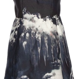Carven - Volcano Print Dress in Blue (marine)