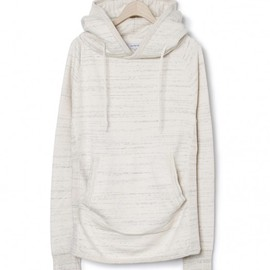 nonnative - DWELLER HOODED PULLOVER - COTTON MARBLE SWEAT