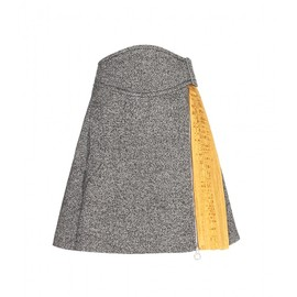 CARVEN - FW2014 Wool-blend skirt with pleats