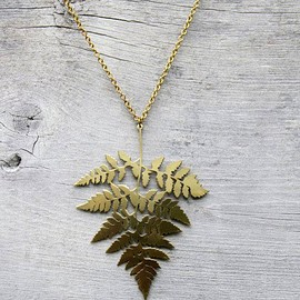 migration - brass fern necklace