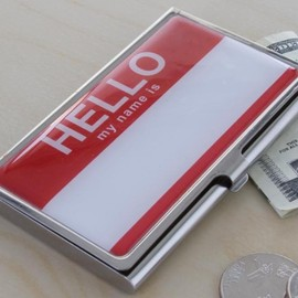 MoMA Design Store - Hello my name is card case