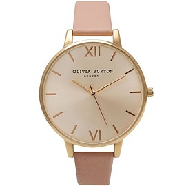 Olivia Burton - Big Dial Dusty Pink & Gold