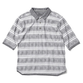 White Mountaineering - COTTON JACQUARD HALF-SLEEVE POLO SHIRT