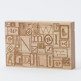 CEMENT PRODUCE DESIGN, Card Chest - letterpress blocks / birch