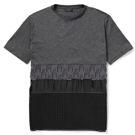 Lanvin - Lanvin Panelled Cotton and Silk-Blend T-Shirt