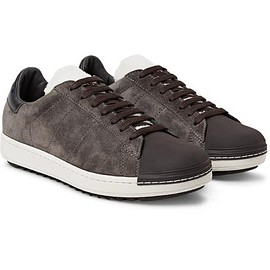 Moncler - Jacohim Rubber-Trimmed Suede and Shearling Sneakers