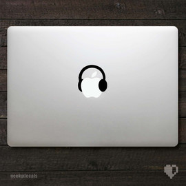 MacBook Decal Headphone