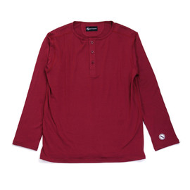 UCS TRADEMARKS - MODAL HENLEY NECK L/S CUT AND SEWN