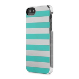 incase - Stripes Snap Case/Silver Chrome Blue Stripes