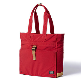 "HEAD PORTER - ""JACKSON"" TOTE BAG RED"