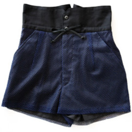 TOGA - Mesh pleats (navy)