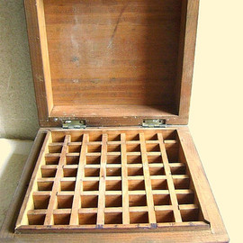 Vintage Japanese  Wood Stamp Box