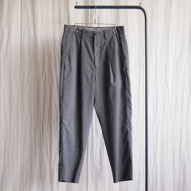 roundabout - Summer Wool Tapered Pants #gray