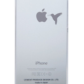 """CEMENT PRODUCE DESIGN, iTattoo - """"Don't feed a bird"""" for iPhone5/5s White & Silver"""