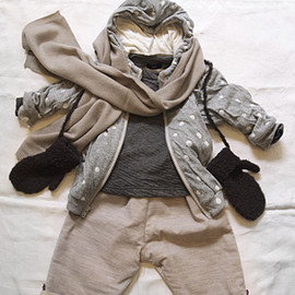 MAKIE - Jersey Hodie Dot + Kid's Boucle Gloves
