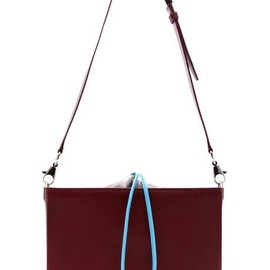 ALEXANDER WANG - ALEXANDER WANG Blood Orange Flat Bucket Bag With Blue Strap $925 ($463 deposit)