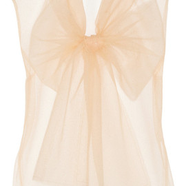 LANVIN - Glitter-finished tulle top