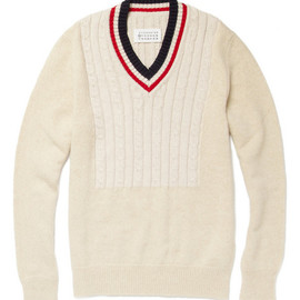 Maison Martin Margiela - Cricket-Bib V-Neck Sweater