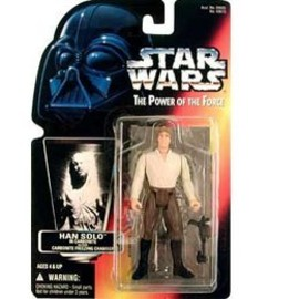 kenner - STAR WARS Power of the force Han Solo In Carbonite Block Red Card Action Figure by Kenner