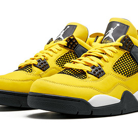 Jordan Brand, NIKE - Air Jordan 4 Retro - Tour Yellow/Multi-Color/Multi-Color/Dark Blue Grey