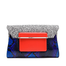 MARY KATRANTZOU - Python Envelope Clutch