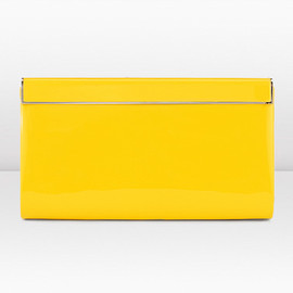 JIMMY CHOO - Cayla Patent Clutch Bag Yellow