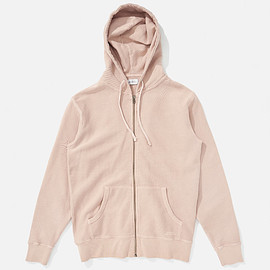 Saturdays Surf NYC - JP Zip-Up Hooded Sweatshirt, Clay Dye